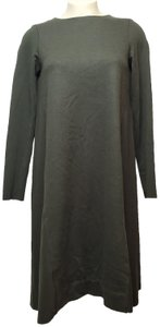 GREEN Maxi Dress by COS Wool Blend Long Sleeves Boat Neck
