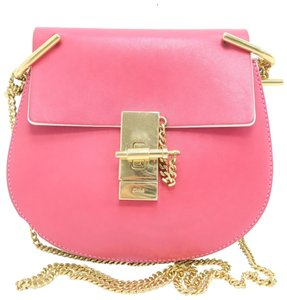 Chloé Drew Small Calfskin Pink&light Cross Body Bag