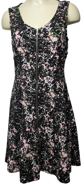 Item - Camouflage A-line Zip Front Mid-length Short Casual Dress Size 12 (L)
