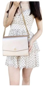 Tory Burch Shoulder Chain Leather Cross Body Bag