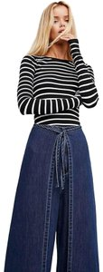 Free People New Wtf The Apron Trouser/Wide Leg Jeans