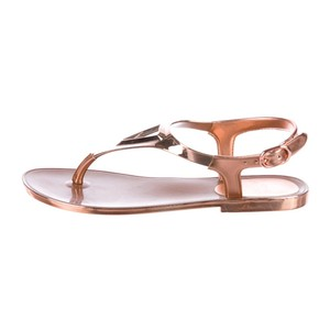 Stuart Weitzman copper rose gold Sandals