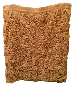 Banana Republic Pencil Floral Flowers Skirt gold