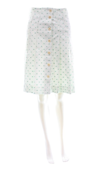 Preload https://img-static.tradesy.com/item/26036210/barneys-new-york-white-cotton-blend-with-green-polka-dots-skirt-size-2-xs-26-0-0-650-650.jpg