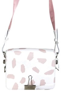 Off-White™ Off-white Leather Brushed Pattern Flap Cross Body Bag