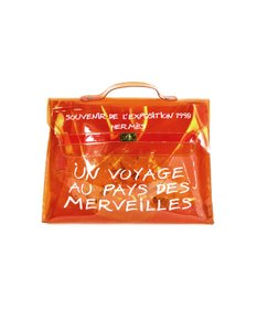 Hermès Pvc Kelly Vinyl Souvenir Orange Messenger Bag