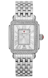 Michele Deco Madison Stainless Sunray Diamond Dial MWW06T000163