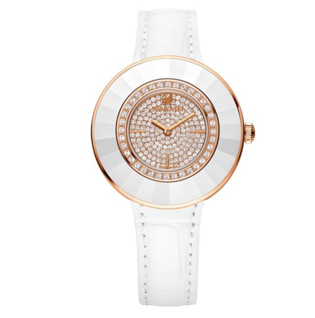 Item - White/Rose Gold Crystal Octea Dressy Signed Watch