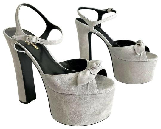 Preload https://img-static.tradesy.com/item/26036674/saint-laurent-oyster-gray-betty-bow-embellished-suede-sandals-platforms-size-eu-395-approx-us-95-reg-0-2-540-540.jpg