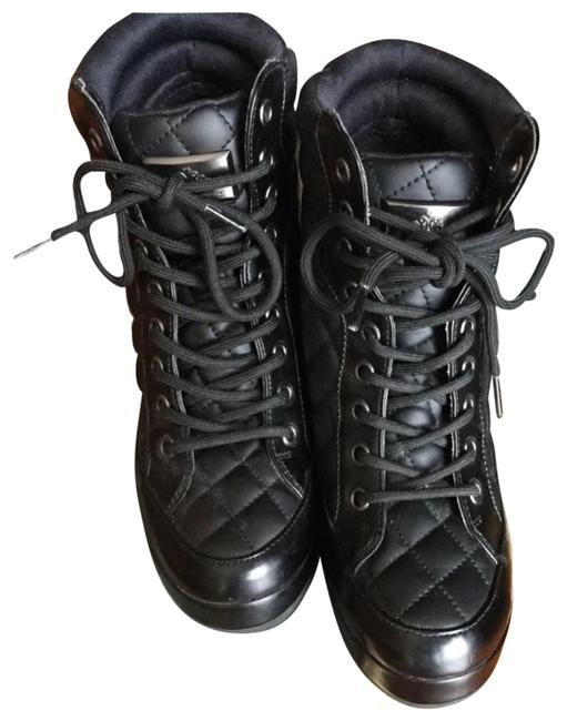 Item - Black Nwot Quilted Vegan Leather Hi Top Ankle Boots/Booties Size EU 36.5 (Approx. US 6.5) Regular (M, B)