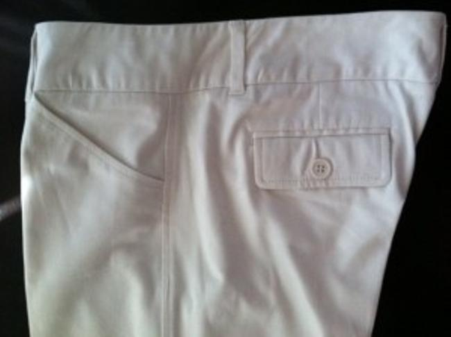 New York & Company Straight Pants Off White