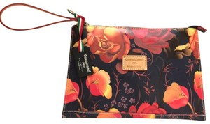 CAVALCANTI Cosmetic Wristlet in Orange/Black