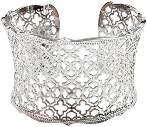 Kendra Scott KENDRA SCOTT NEW CANDICE FILIGREE RHODIUM SILVER CUFF BRACELET NWT