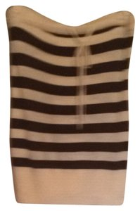 Trina Turk Beige With Brown Stripes Halter Top
