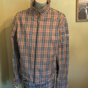 Burberry camel check Womens Jean Jacket
