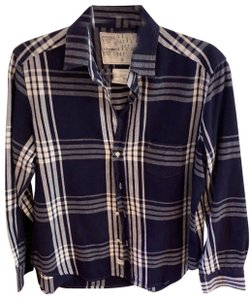 Frank & Eileen Button Down Shirt navy and white