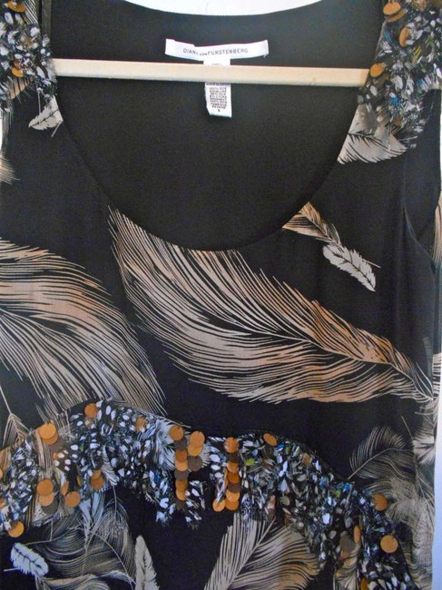 Diane von Furstenberg Top Black multi /