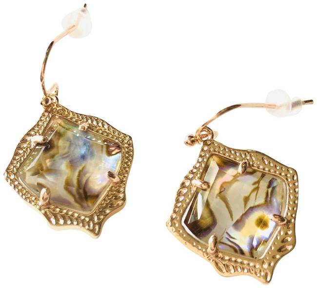 Item - Rose Gold Kyrie Abalone Shell Drop Earrings