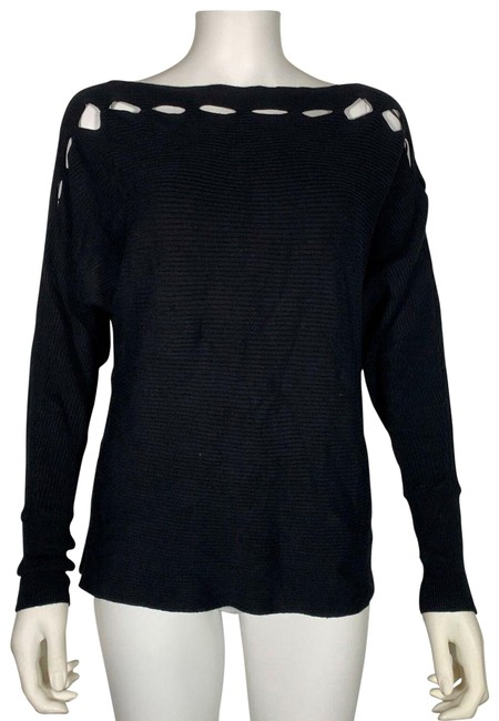 Item - XS Outs Boat Neck New Black Sweater