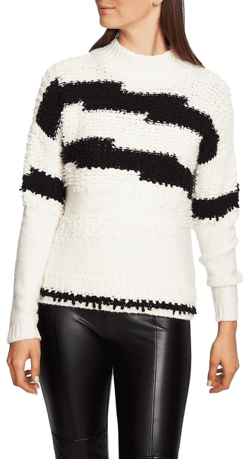 Item - XS Textured Mock Neck Women New Ivory Sweater