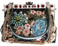 Dolce&Gabbana Vanda Shoulder Designer Runway Multicolor Clutch