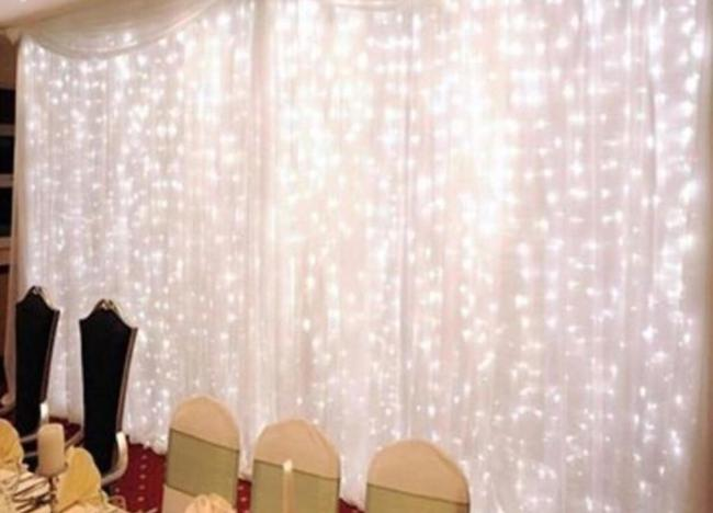 Item - 304 Led 10 X 10 Curtain Lights 8 Lighting Modes Backdrop. Lights Only. Curtain and Stand See Other Listing Ring Bearer Pillow