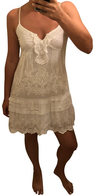Item - White Lacey Short Casual Dress Size 8 (M)