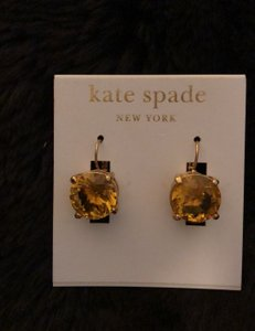 Kate Spade Yellow gemstone earrings