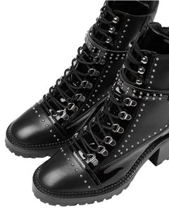 The Kooples Studded Chunky Black Boots