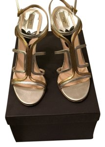 Prada Heels Silver/gold Formal