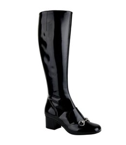 Gucci Black Polished Leather Boots