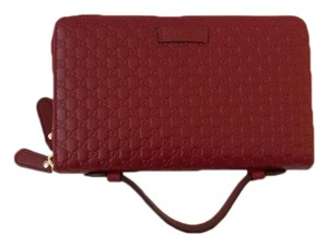 Gucci Guccissima Double Zip Travel Wallet