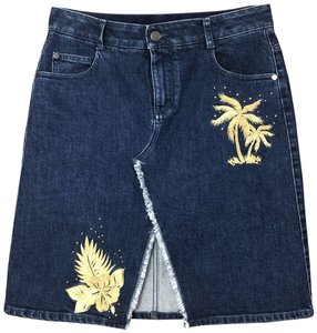 Stella McCartney Embroidered Skirt Blue