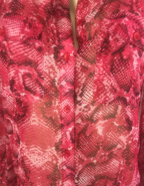 Neiman Marcus Button Down Shirt red Image 1
