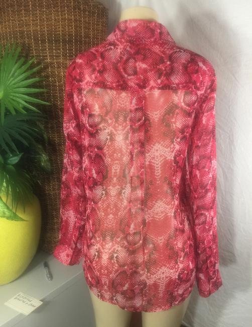 Neiman Marcus Button Down Shirt red Image 2