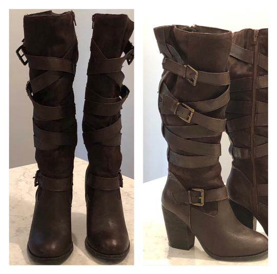 Preload https://img-static.tradesy.com/item/26039293/steve-madden-leather-and-textile-suede-bootsbooties-size-us-85-regular-m-b-0-0-540-540.jpg