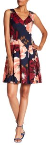 Trina Turk Floral Fit And Flare Keyhole Sleeveless Dress