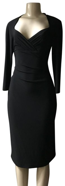 Preload https://img-static.tradesy.com/item/26039303/jones-wear-stunning-black-long-sleeve-midi-with-with-4-corner-v-neck-and-fitted-pleat-throughout-the-0-5-650-650.jpg