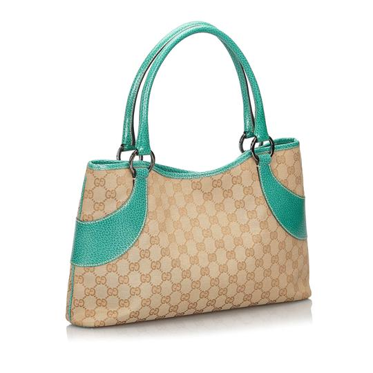 Gucci 9hguto051 Vintage Canvas Leather Tote in Brown Image 1
