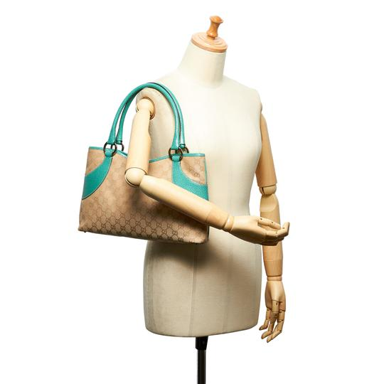 Gucci 9hguto051 Vintage Canvas Leather Tote in Brown Image 8