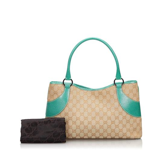 Gucci 9hguto051 Vintage Canvas Leather Tote in Brown Image 9