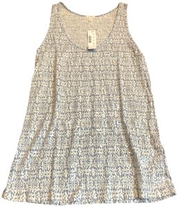 J.Crew Top Blue and White Tribal