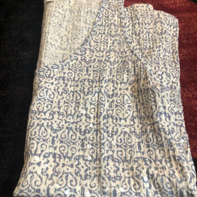 J.Crew Top Blue and White Tribal Image 4