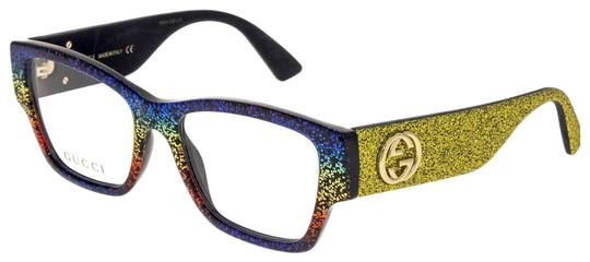 Preload https://img-static.tradesy.com/item/26039371/gucci-yellow-rainbow-glitter-rx-optical-frame-gg0104o-0104-sunglasses-0-5-540-540.jpg