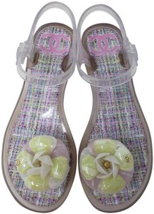 Chanel Camellia Gold Hardware Silver Hardware Jelly Interlocking Cc Multicolor Sandals