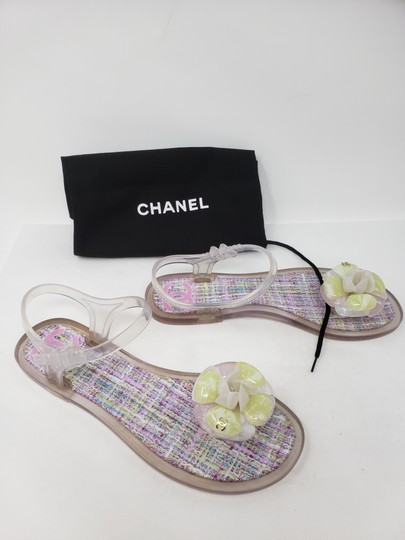 Chanel Camellia Gold Hardware Silver Hardware Jelly Interlocking Cc Multicolor Sandals Image 1
