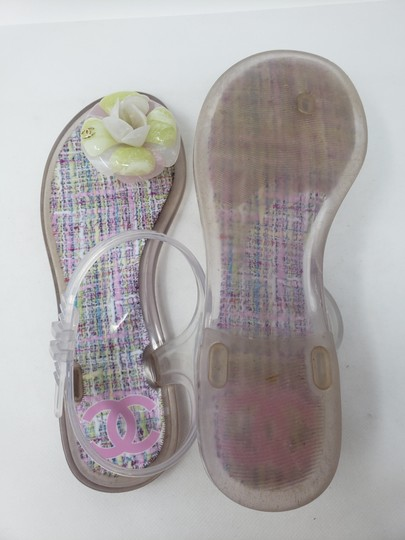 Chanel Camellia Gold Hardware Silver Hardware Jelly Interlocking Cc Multicolor Sandals Image 10