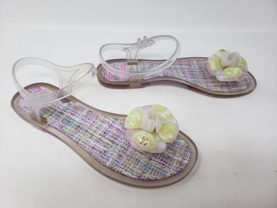 Chanel Camellia Gold Hardware Silver Hardware Jelly Interlocking Cc Multicolor Sandals Image 3