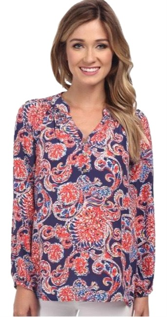 Preload https://img-static.tradesy.com/item/26039398/lilly-pulitzer-blue-red-for-the-halibut-printed-elsa-blouse-size-4-s-0-5-650-650.jpg