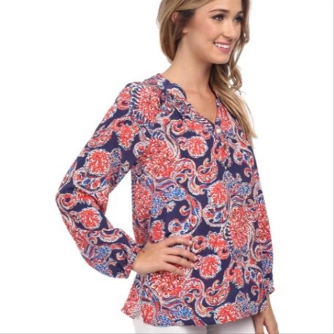 Lilly Pulitzer Top blue / red Image 1
